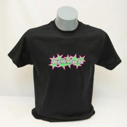 T-Shirt Deichbremse Neon-Pink/Neon-Grün Sternchen